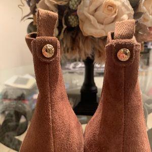Michael Kors Shoes - Micheal Kors - Thea suede Wedge booties Sz 9